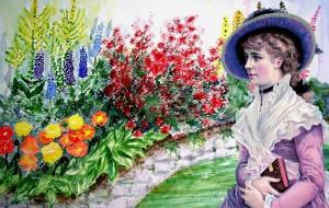 flowers retro pix