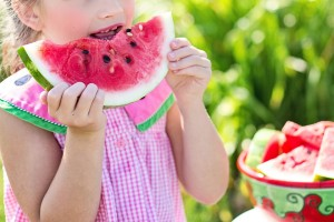 children eating pix water melon