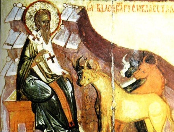 Свети Влас благослови крави (Руска икона)