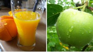 orange juse apple