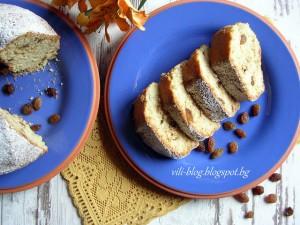 Кекс с липов чай, мед и стафиди