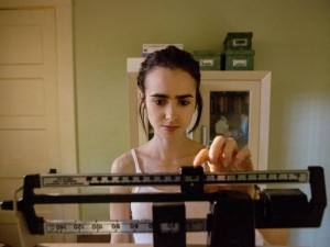 Weight expectations: Lily Collins in 'To the Bone' Netflix
