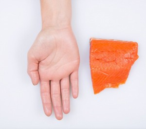 Salmon - feature on food portions