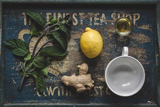 tea lemon ginger pix