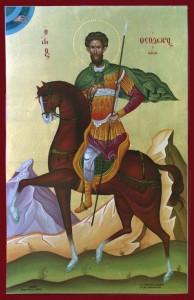 Св. Тодор на бял кон отива при Господ да измоли лято