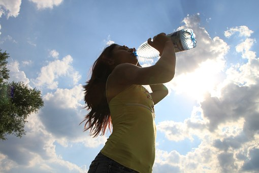 woman water drinking pix