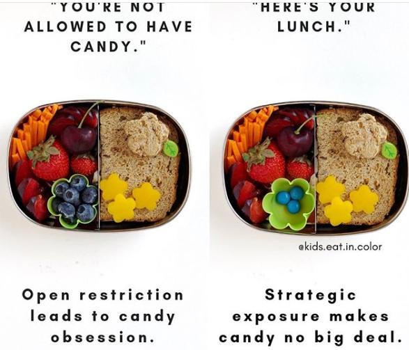 kids eat in color